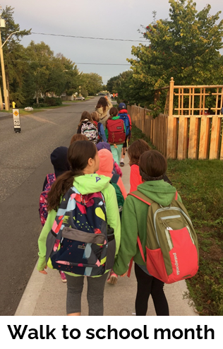 events walk to school month